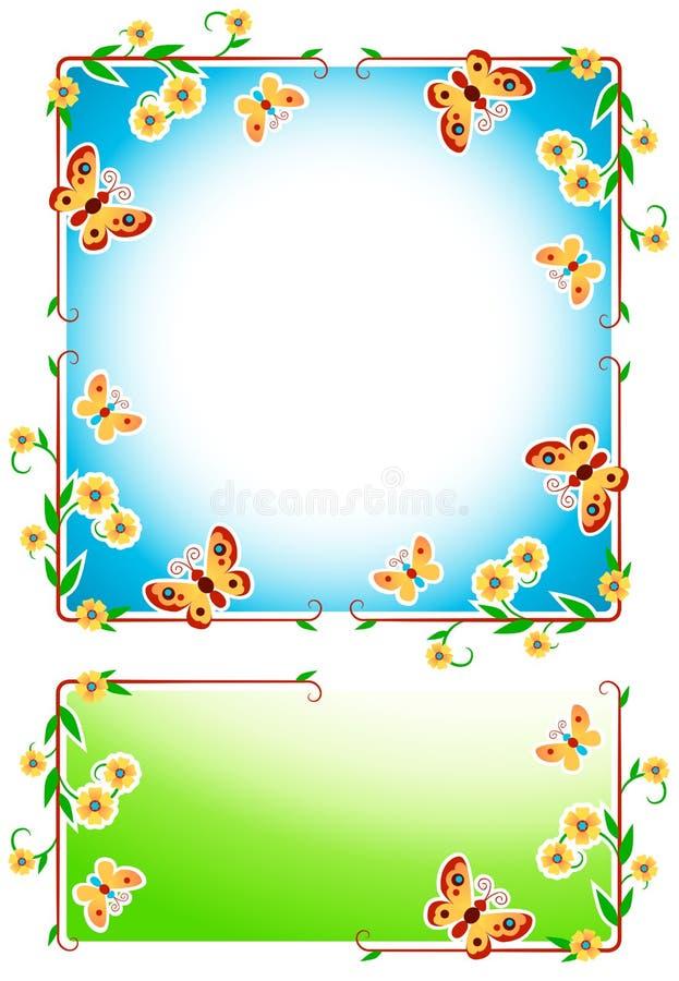 blom- ramar vektor illustrationer