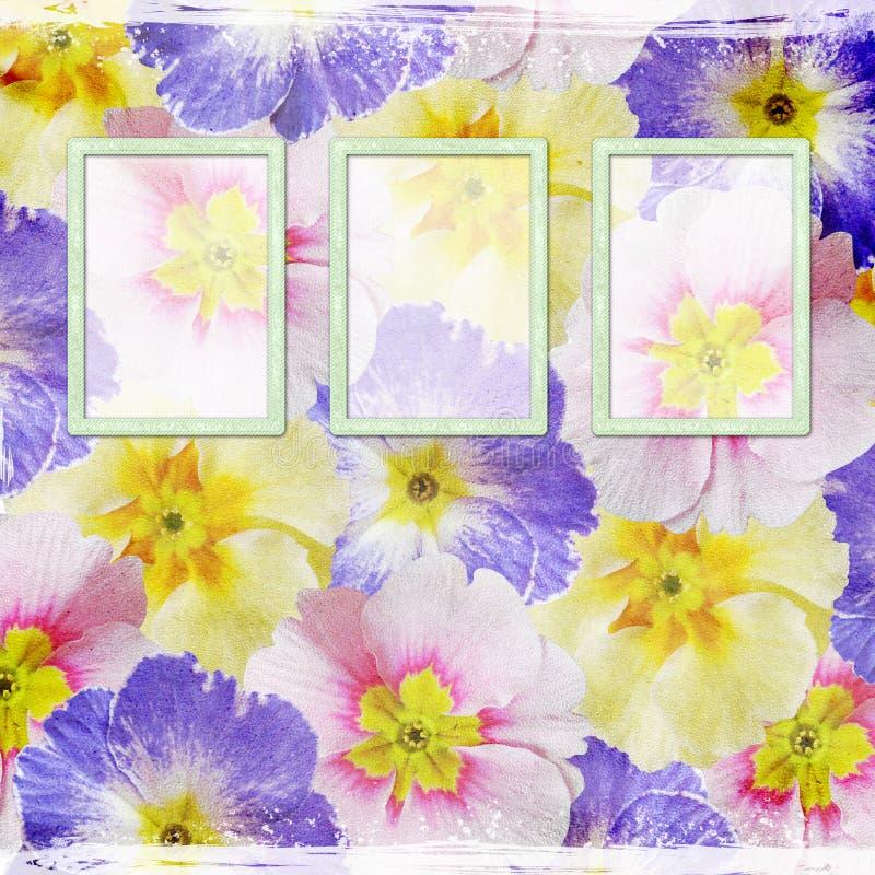 blom- ramar för bakgrund vektor illustrationer