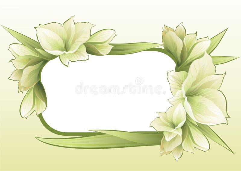 blom- ramgreen stock illustrationer