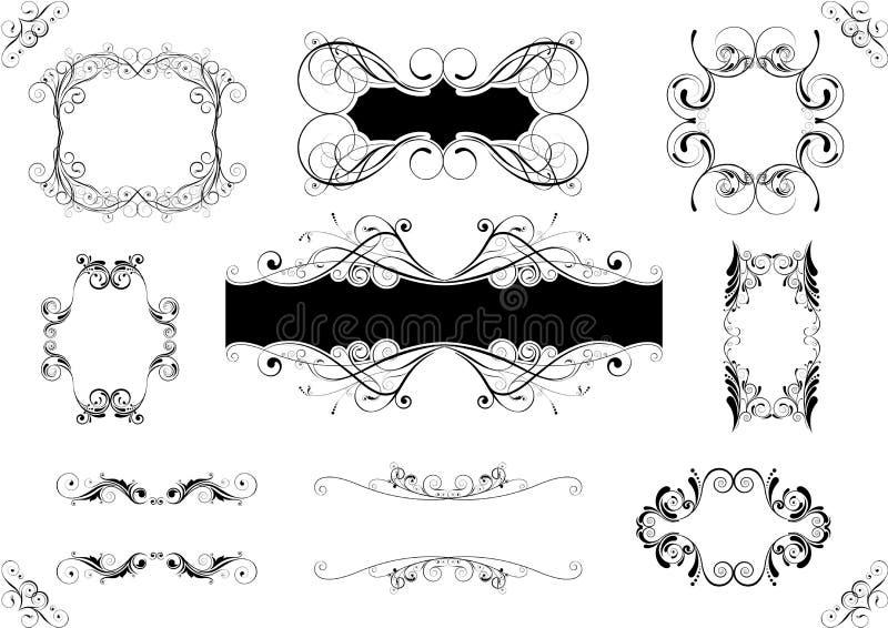 blom- ramset vektor illustrationer