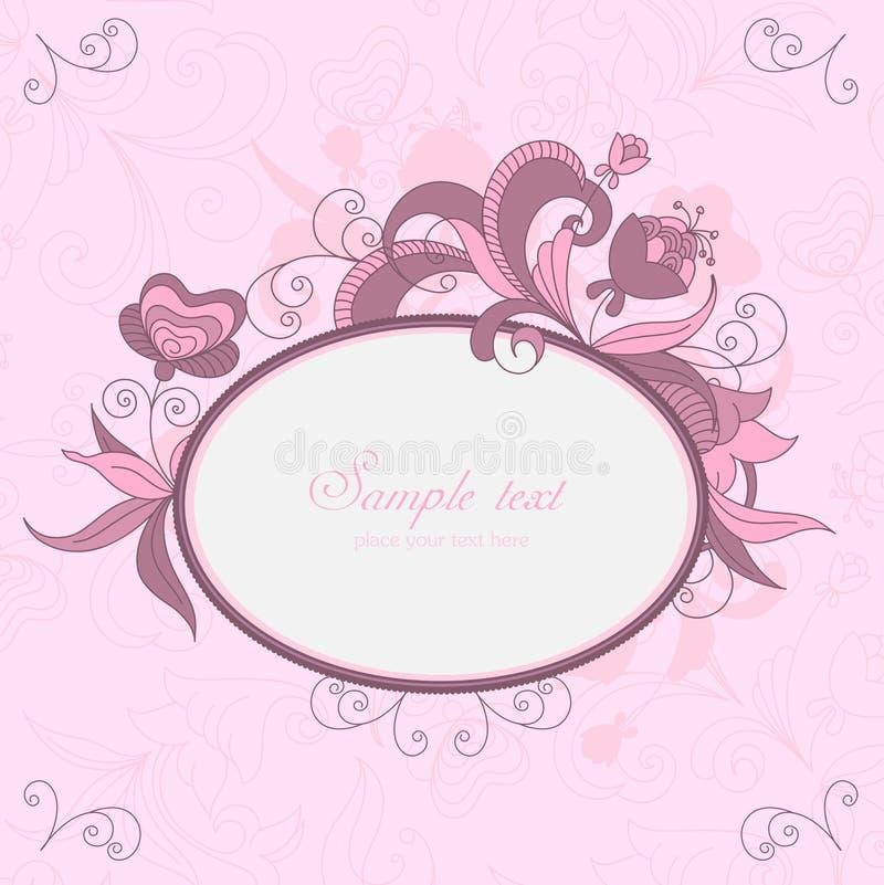 blom- ramtappning royaltyfri illustrationer