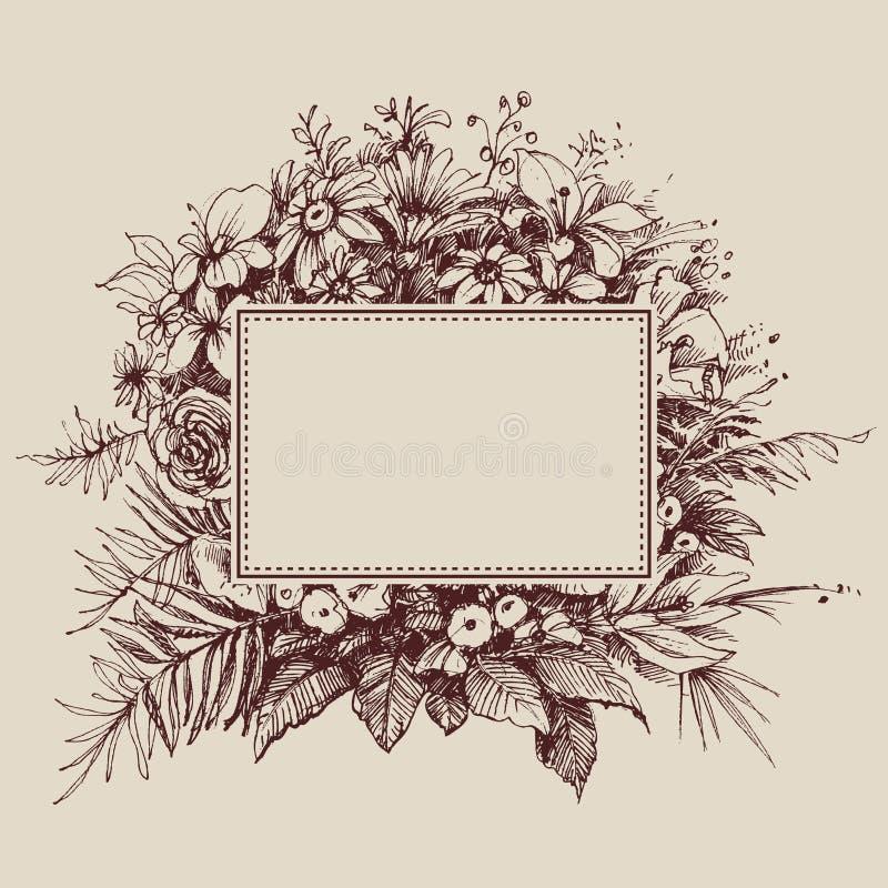 blom- ramtappning vektor illustrationer