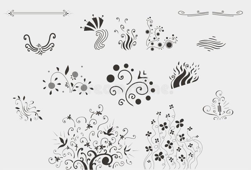 blom- ramtappning för prydnad vektor illustrationer