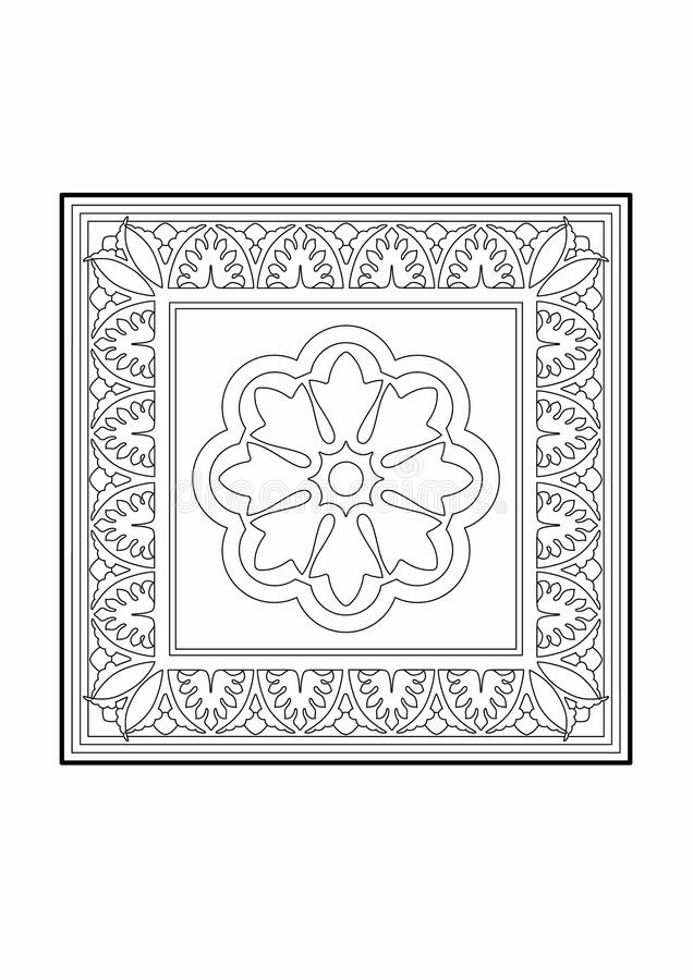 Blom- rektangel stock illustrationer