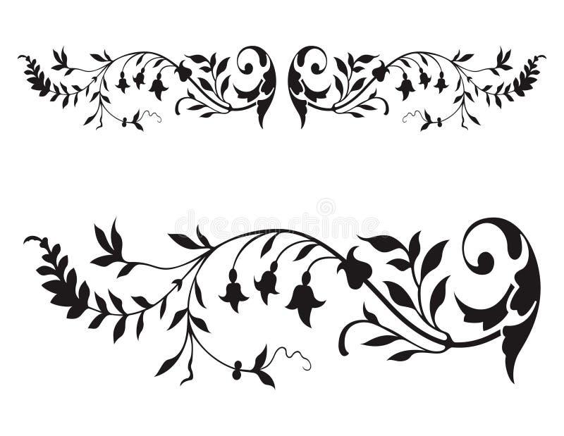 blom- renässansvektor stock illustrationer
