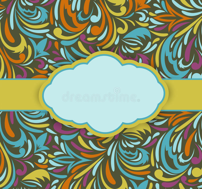 Download Blom- retro bakgrund vektor illustrationer. Illustration av fira - 27282502