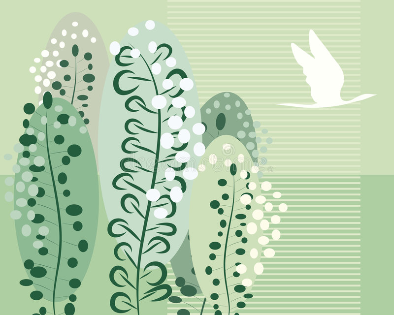 blom- retro för bakgrund royaltyfri illustrationer
