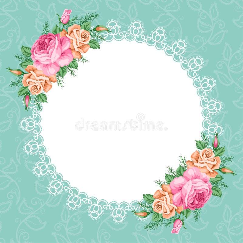 blom- retro för bakgrund stock illustrationer