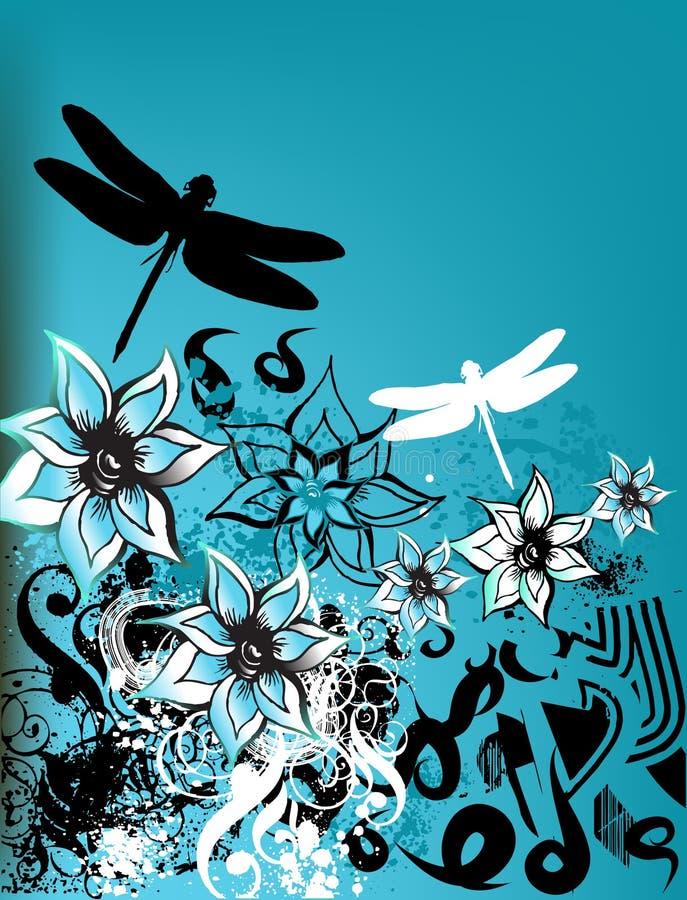 blom- retro för bakgrund vektor illustrationer