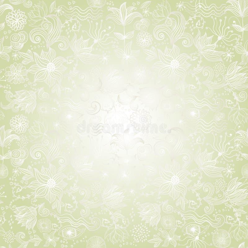 blom- retro seamless för bakgrund stock illustrationer