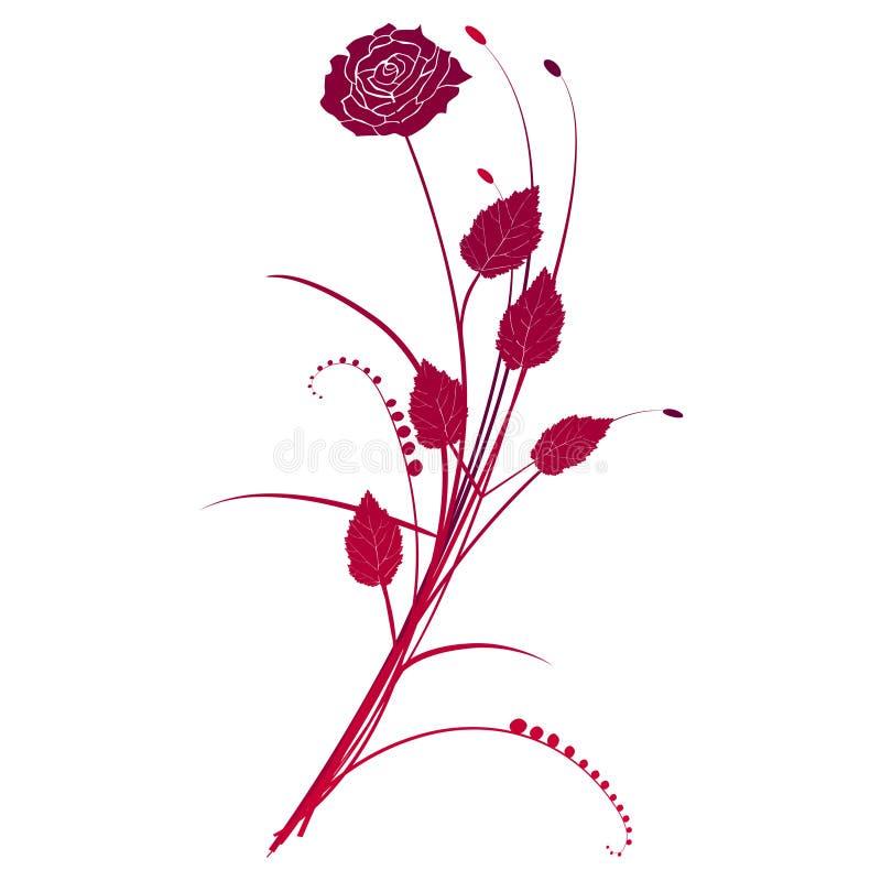 blom- ro för bakgrund stock illustrationer