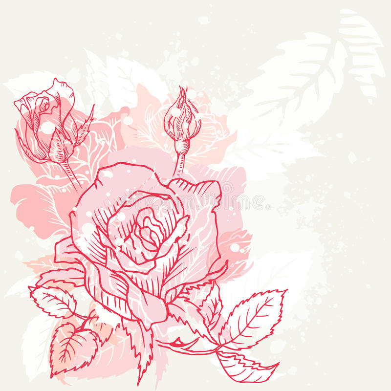Download Blom- robakgrund vektor illustrationer. Illustration av blomma - 27281275