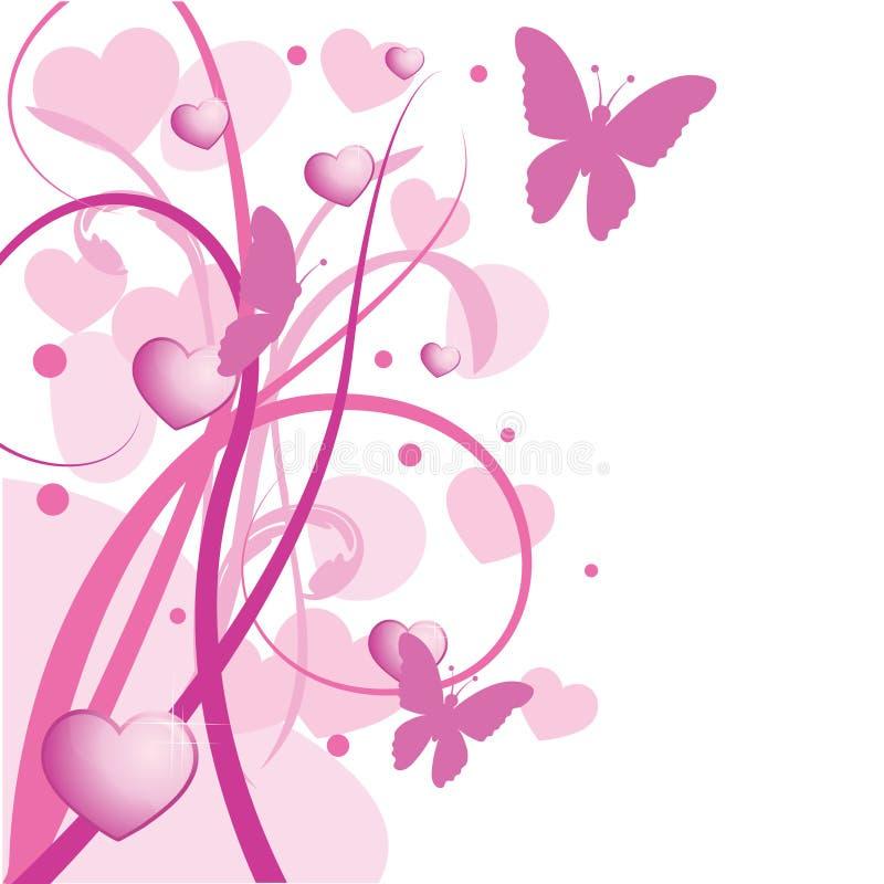 blom- rosa fjäder för bakgrund royaltyfri illustrationer