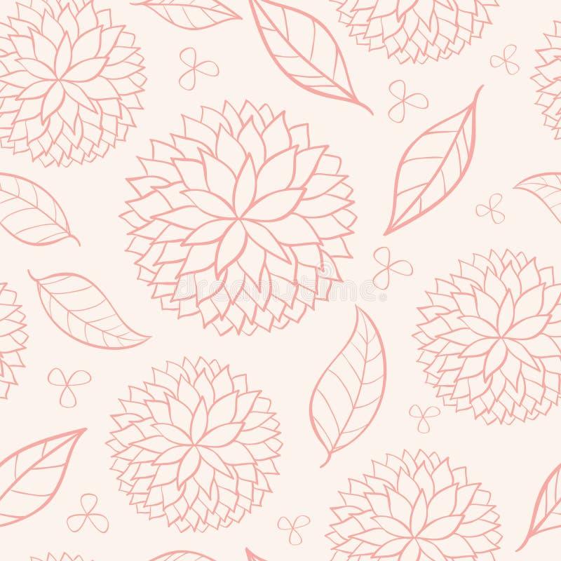 blom- rosa seamless för skönhet royaltyfri illustrationer