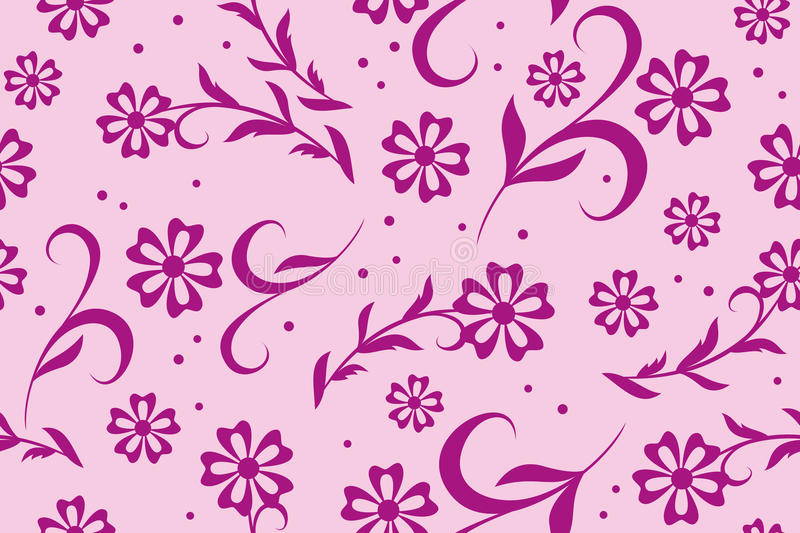 blom- rosa seamless texturvektor stock illustrationer