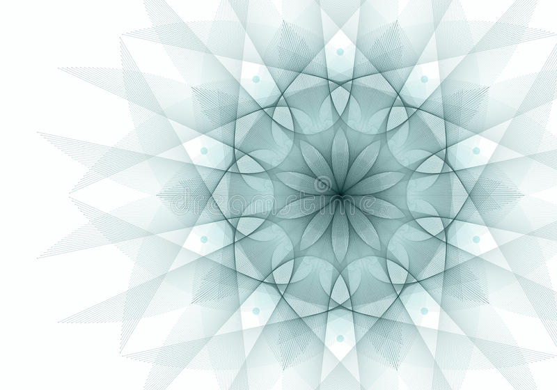 blom- rosette vektor illustrationer