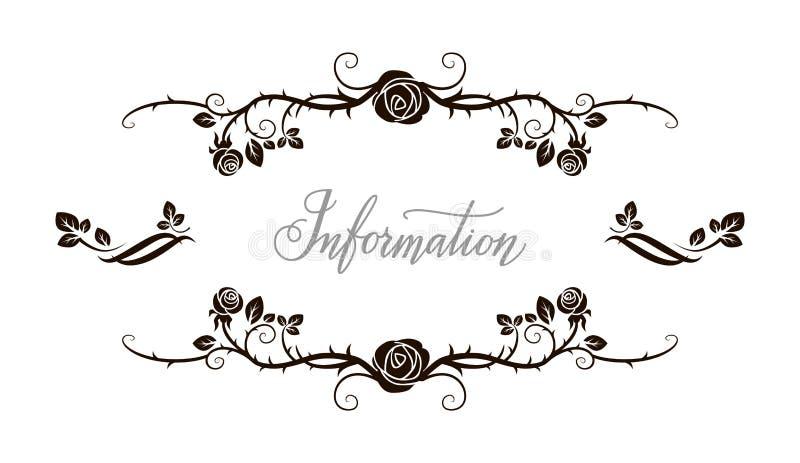 Blom- rosram royaltyfri illustrationer