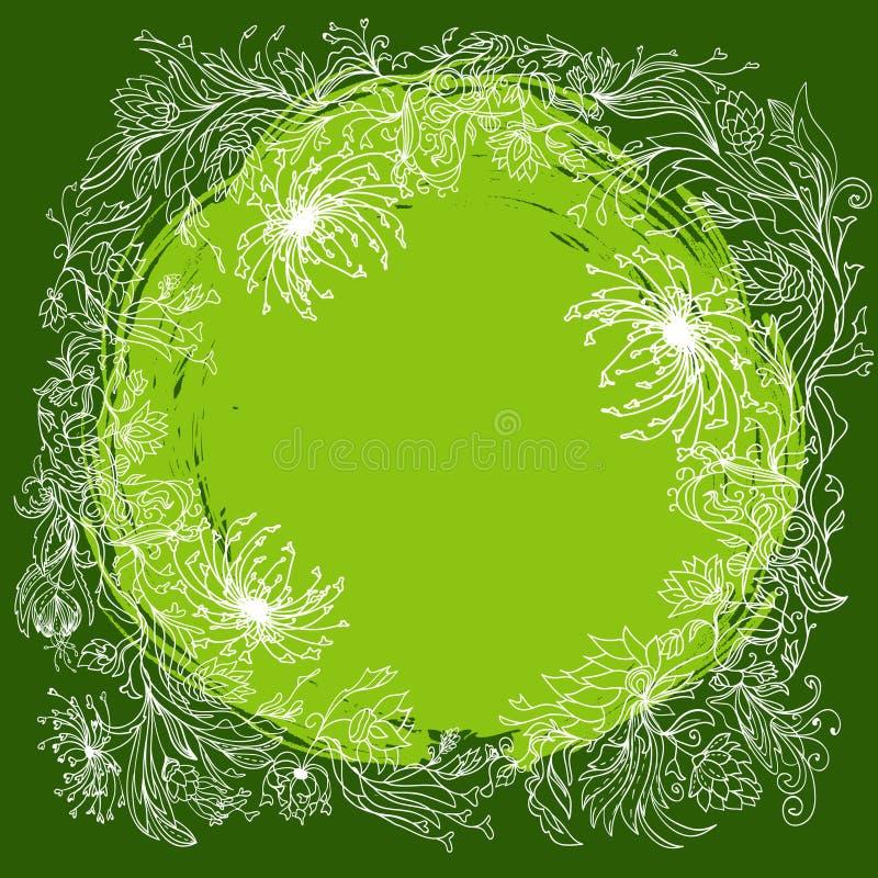 blom- round för sammansättning stock illustrationer