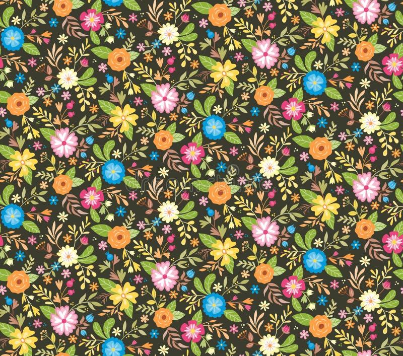 Blom- sömlös bakgrund för gullig vår också vektor för coreldrawillustration stock illustrationer