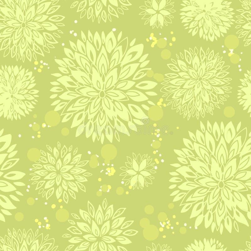 Blom- sömlös modell för tappning vektor illustrationer