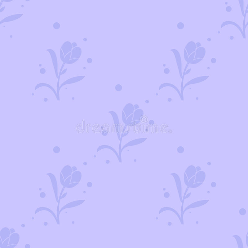 Blom- sömlös modell för vektor med växter på en blå bakgrund vektor illustrationer