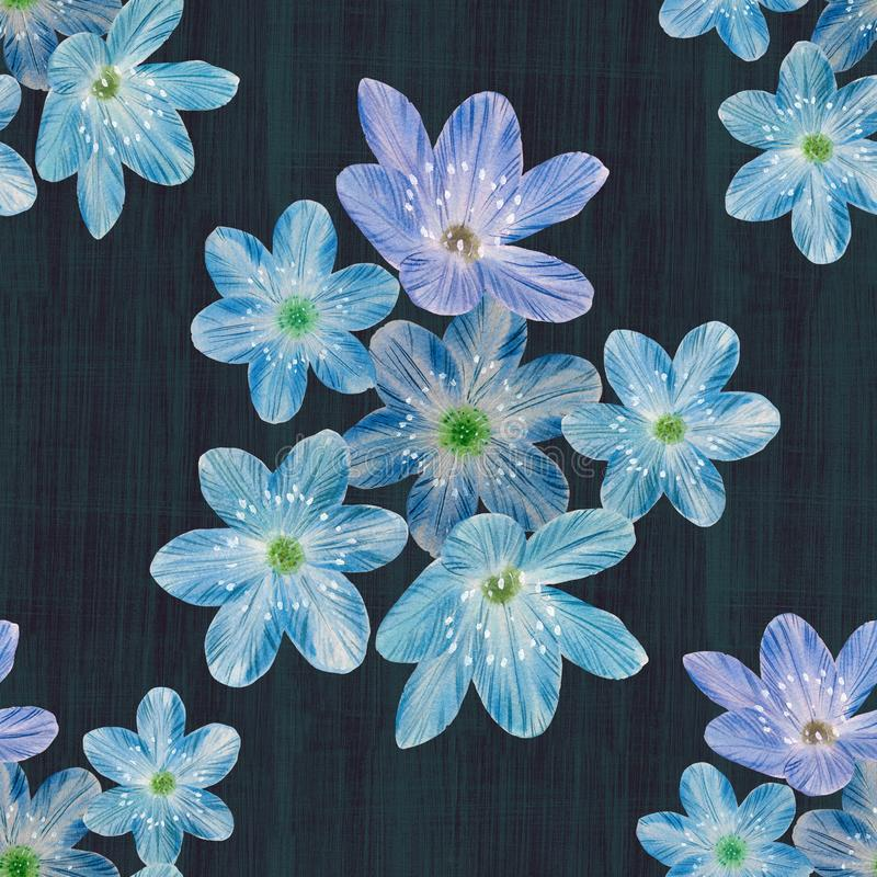 Blom- sömlös modell på abstrakt bakgrund vektor illustrationer