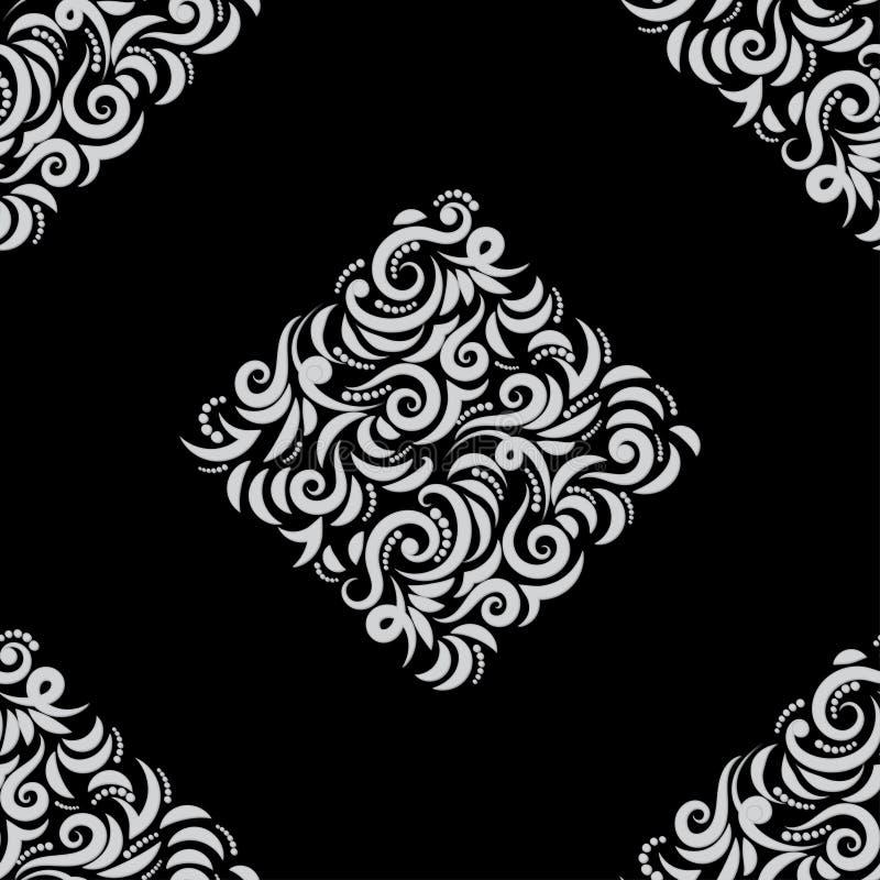 Blom- s?ml?s bakgrund f?r modell 3d stock illustrationer