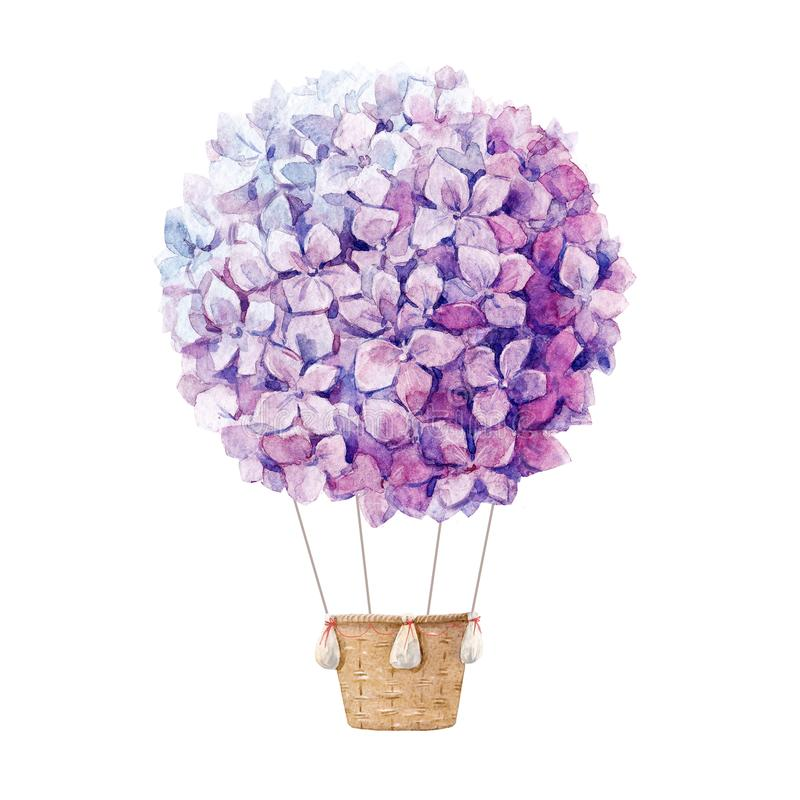 Blom- sammansättning för vattenfärg stock illustrationer