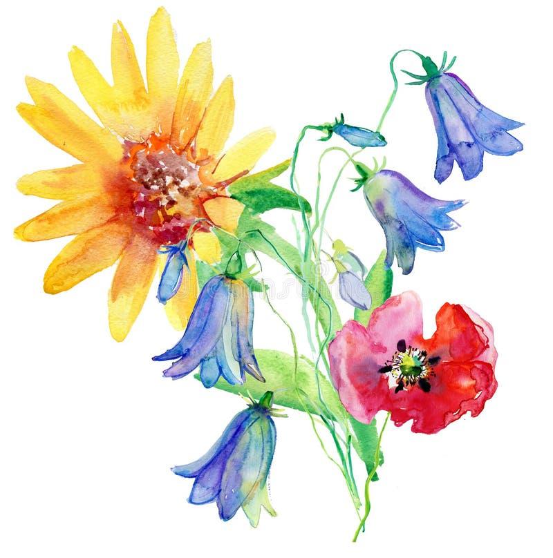 blom- seamless blommaleaves för bakgrund vektor illustrationer