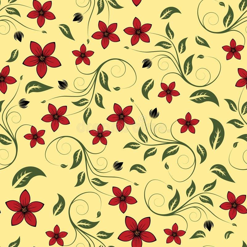 blom- seamless för bakgrund stock illustrationer
