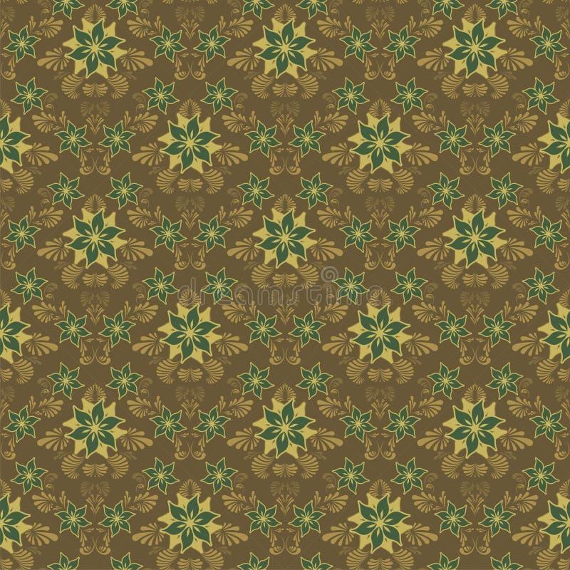 blom- seamless för bakgrund vektor illustrationer
