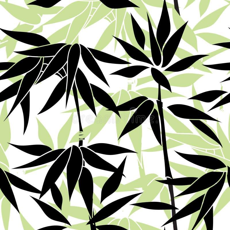blom- seamless för bakgrund Bambo bladmodell blom- seamless royaltyfri illustrationer