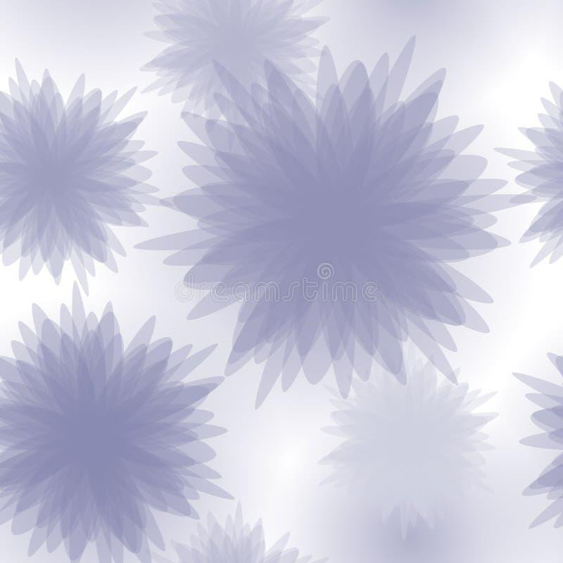 Blom- seamless mönstrar bakgrund stock illustrationer