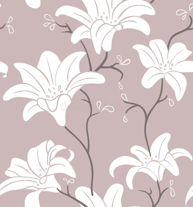 Blom- seamless modell royaltyfri illustrationer