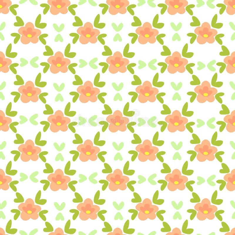 Blom- seamless-27 vektor illustrationer