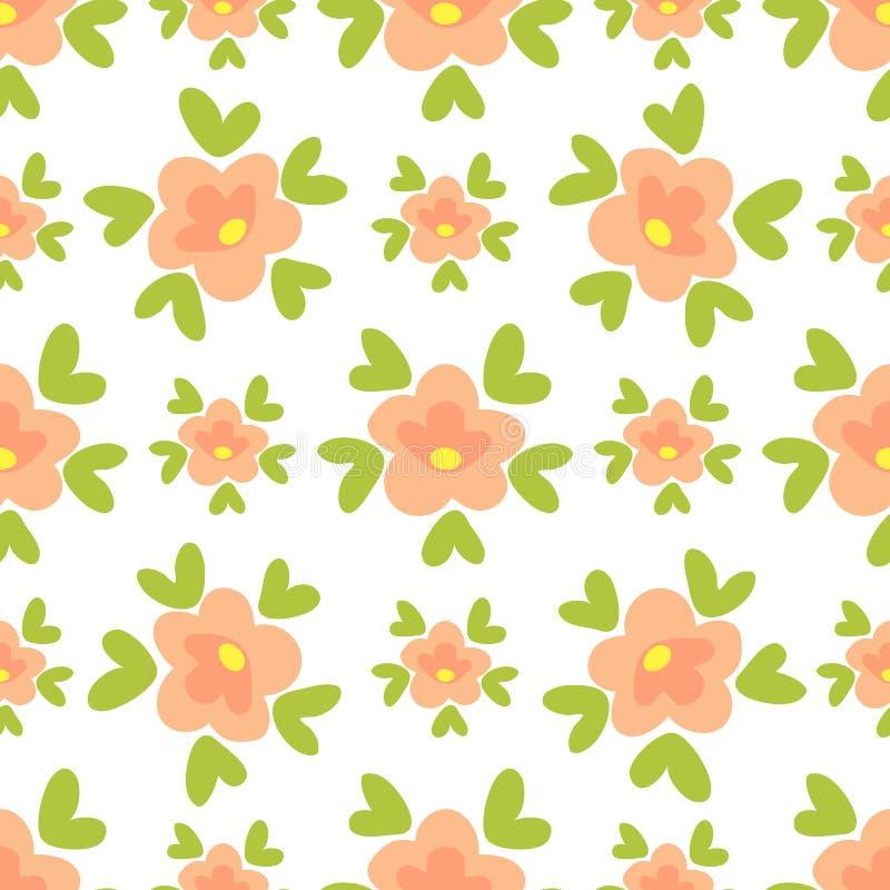 Blom- seamless-26 vektor illustrationer