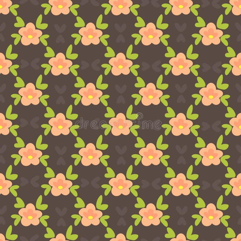 Blom- seamless-25 vektor illustrationer