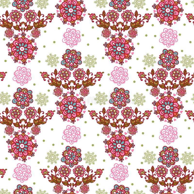blom- seamless textur stock illustrationer