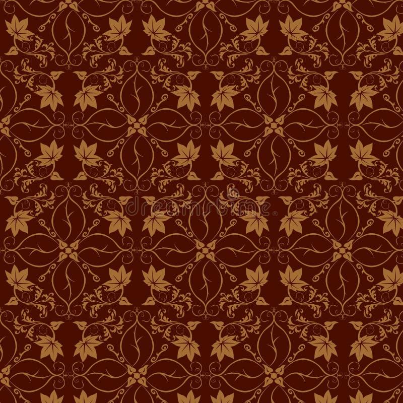 blom- seamless wallpaper vektor illustrationer