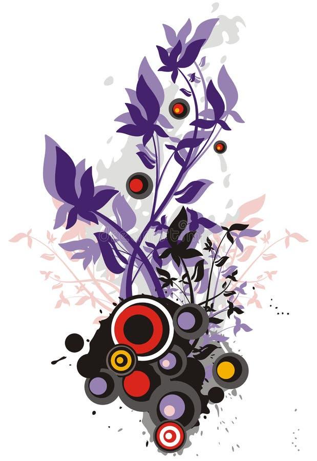 blom- serie för bakgrund royaltyfri illustrationer