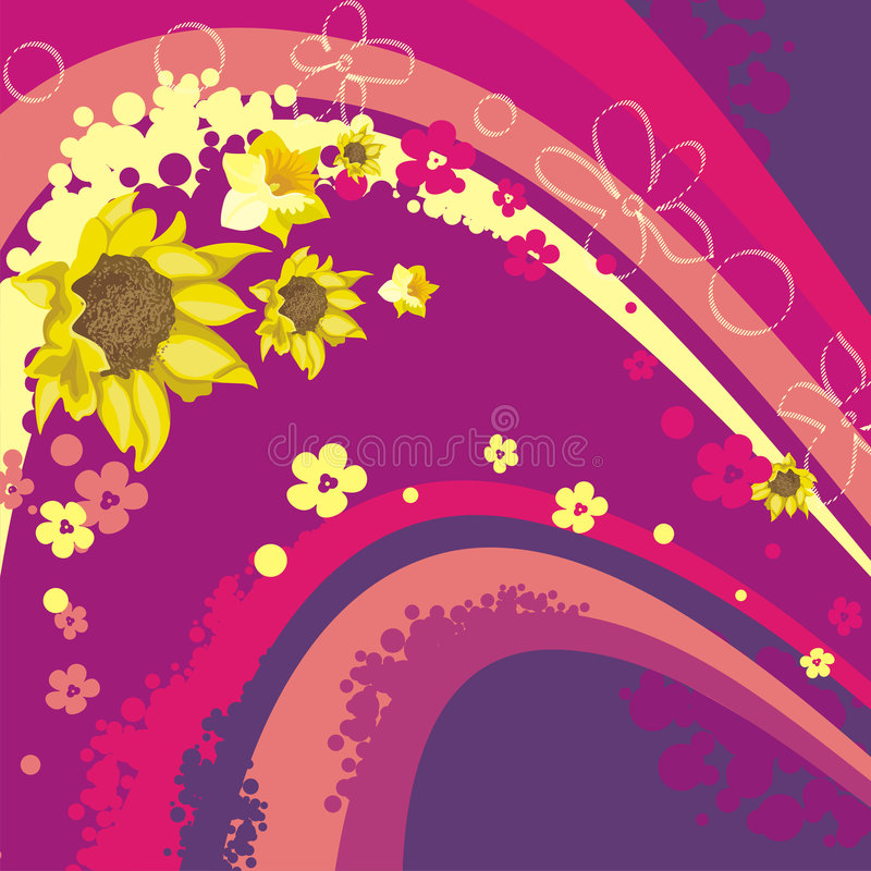 blom- serie för bakgrund vektor illustrationer