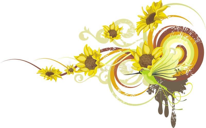blom- serie för design royaltyfri illustrationer