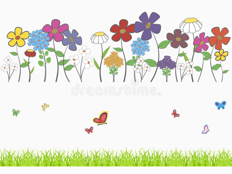 blom- set stock illustrationer