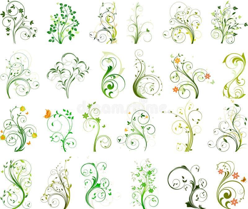blom- setvektor royaltyfri illustrationer