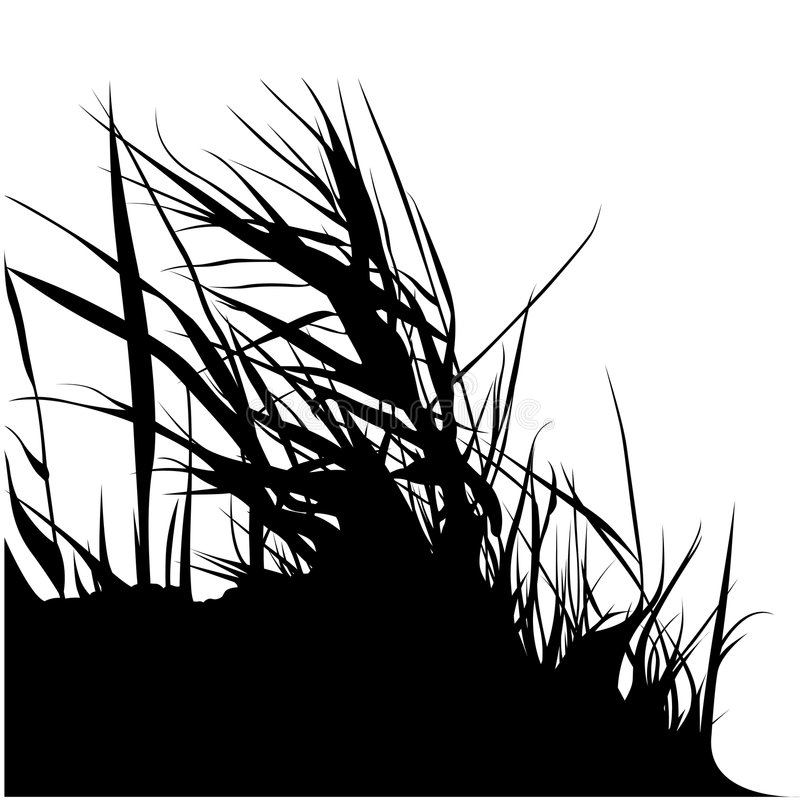 blom- silhouette 06 royaltyfri illustrationer