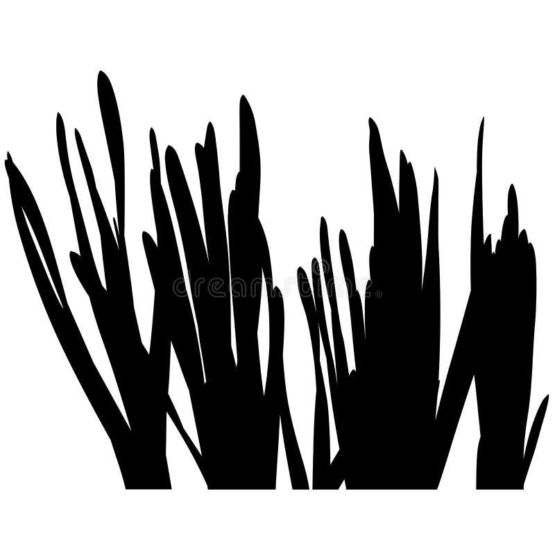 blom- silhouette 08 stock illustrationer