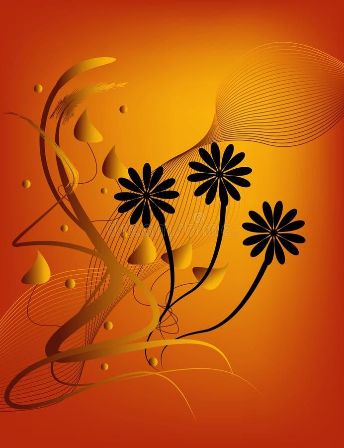 blom- silhouette royaltyfri illustrationer