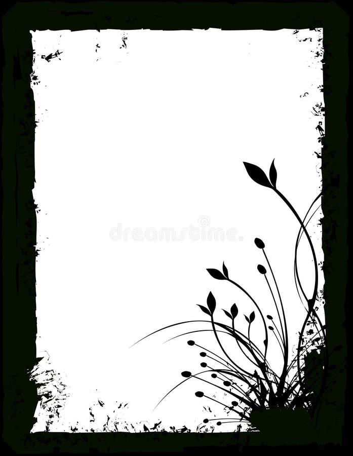 blom- silhouettevektor vektor illustrationer