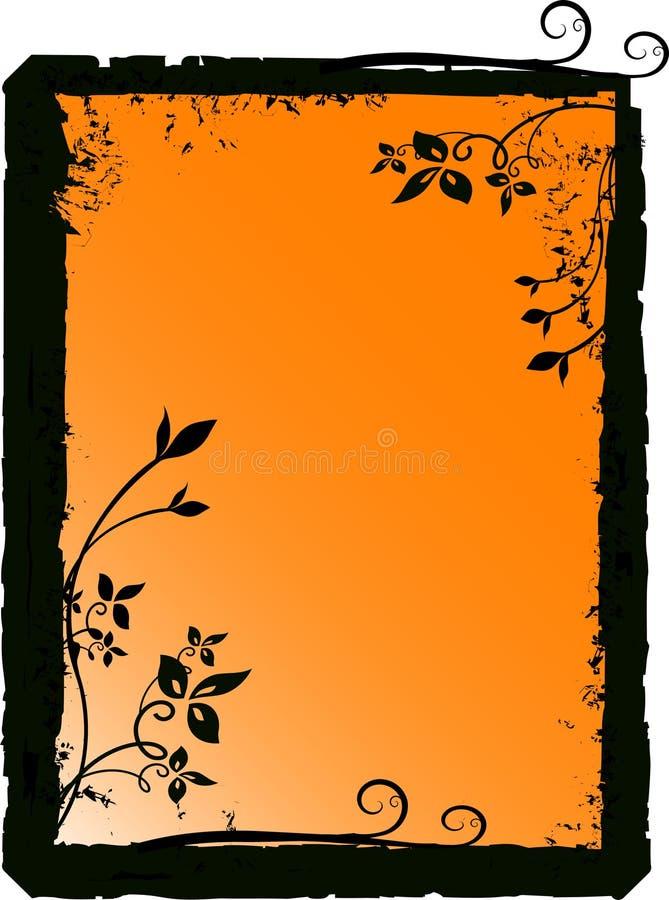 blom- silhouettevektor stock illustrationer