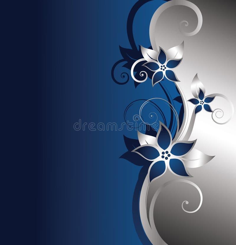 blom- silver för bakgrund vektor illustrationer